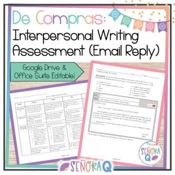 Interpersonal Writing Assessment (Email Reply): De Compras