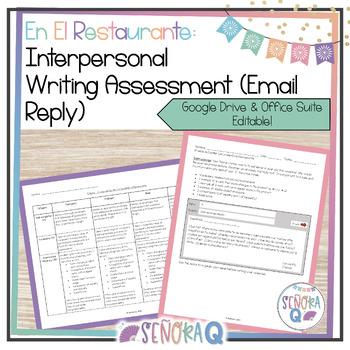 Interpersonal Writing Assessment (Email Reply): En el Restaurante