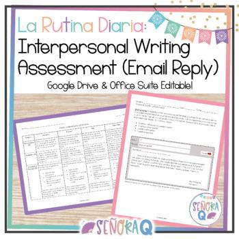 Interpersonal Writing Assessment (Email Reply): La Rutina Diaria