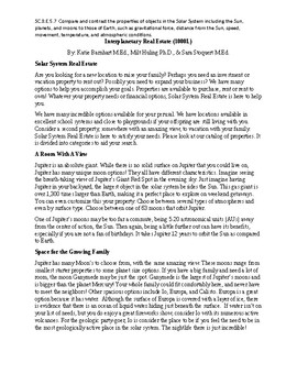 Interplanetay Real Estate (1000L) - Science Informational Text