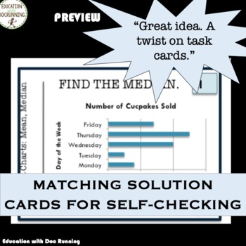 Interpret Charts with Mean, Median and Mode Task Card Activity