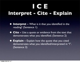 Interpret Cite Explain - ICE for evidence based writing