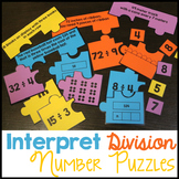 Interpret Division Number Puzzle - Quotients of Whole Numbers