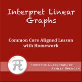 Interpret Linear Graphs (Lesson Plan with Homework)