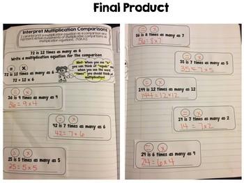 Interpret Multiplication Comparisons
