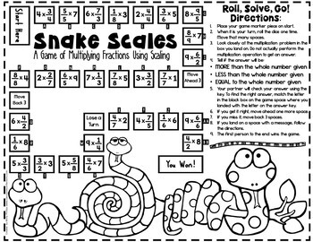 Multiplication as Scaling Game: 5.NF.B.5: 5th Grade Fractions Math Game