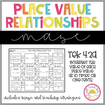 Interpret Place Value Relationships Maze 4.2A