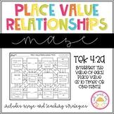Interpret Place Value Relationships Maze 4.2A