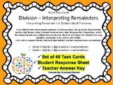 Interpret Remainders: Division Word Problems