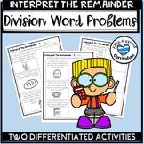 Interpret Remainders Word Problems Division