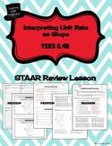 Interpret Unit Rate Slope - STAAR REVIEW LESSON - TEKS 8.4B