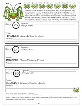 4th Grade Interpret the Remainder EXTENDS 4.0A.3