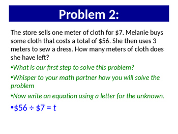 Interpret the unknown using multiplication and division to solve problems - 3rd