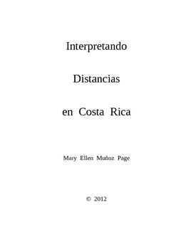 Interpretando Distancias en Costa Rica