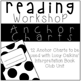 Interpretation Book Clubs Anchor Charts for Lucy Calkins