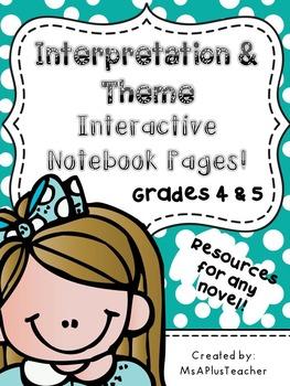 Interpretation & Theme Interactive Notebook Pages