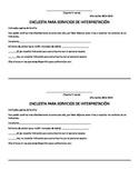 Interpretation and Conference Invite Survey Spanish Englis