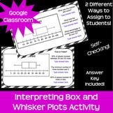 Interpreting Box and Whisker Plots *Google Classroom* *Dis