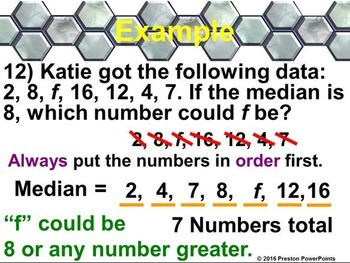 (Alg 1) Measures of Central Tendency in a PowerPoint Presentation