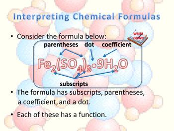 Interpreting Chemical Formulas