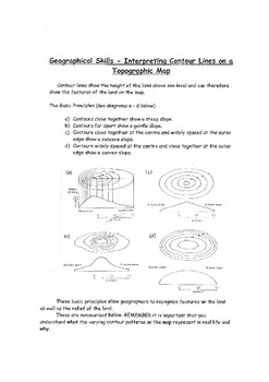 Interpreting Contour Lines on Topographic Maps Worksheet  author avatar