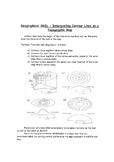 Interpreting Contour Lines on Topographic Maps Worksheet