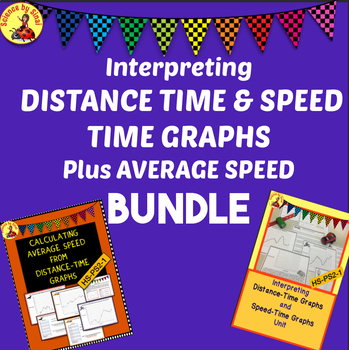 Interpreting DISTANCE-TIME, SPEED-TIME GRAPHS, AVERAGE SPEED Activities BUNDLE