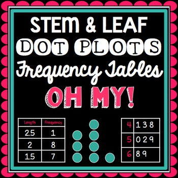 MATH TEST PREP: Stem and Leaf, Dot Plots and Frequency Tables STAAR Aligned