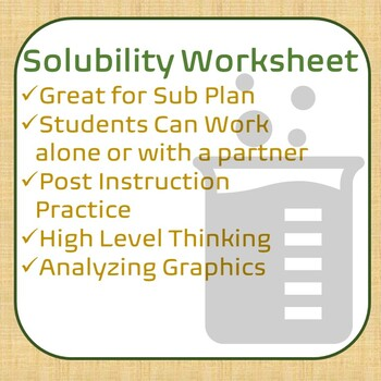 Interpreting Data Using Solubility Worksheet