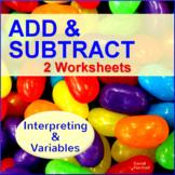 Interpreting Data and Variables - 2 Worksheets