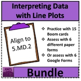 Interpreting Data with Line Plots Bundle - Distance Learning