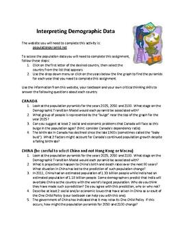 Interpreting Demographic Data