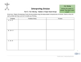Interpreting Division - Fair Sharing and Measurement