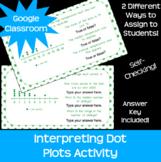 Interpreting Dot Plots Line Plots *Google Classroom* *Dist