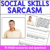 Social Skills Lessons   Sarcasm and Perspective Taking with BOOM Cards Included
