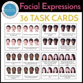 Interpreting Facial Expressions Task Cards
