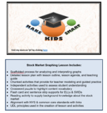 Interpreting Graphs - Stock Market & Economy (8 page packet + scaffolds + plans)