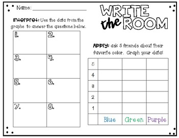 Interpreting Graphs - Write the Room