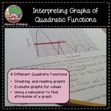 Interpreting Graphs of Quadratic Functions - Differentiati