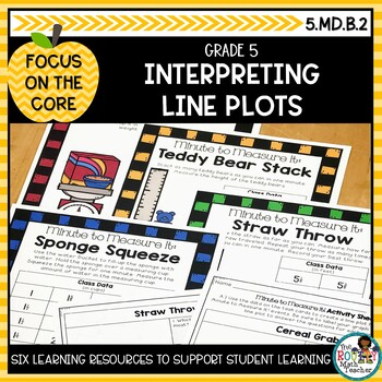 Interpreting Line Plots- Math Center Activity and Printables