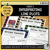 Representing and Interpreting Line Plots | Math Center Act