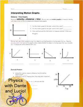 interpreting motion graphs by physics with dante and lucio tpt. Black Bedroom Furniture Sets. Home Design Ideas