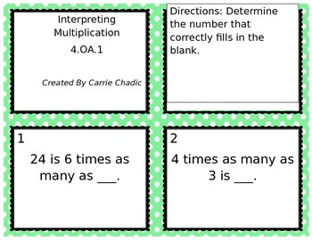 Interpreting Multiplication