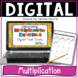 Multiplication Equations Digital Task Cards for Google Slides