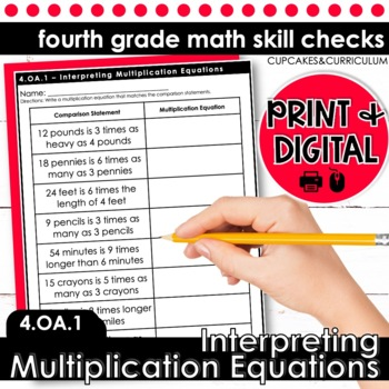 Interpreting Multiplication Equations | Fourth Grade Math 4.OA.1