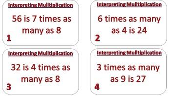 Interpreting Multiplication Task Cards v.1