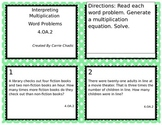 Interpreting Multiplication Word Problems