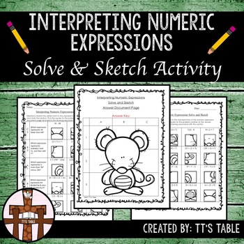 Interpreting Numeric Expressions Solve & Sketch Activity