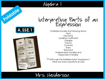 Interpreting Parts of an Expression Foldable