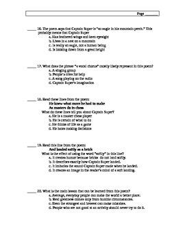 Interpreting Poetry Test
